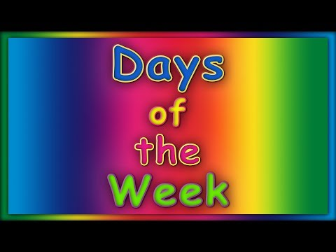 Days of the Week Song   ABC Baby Songs   Learn Days of the Week