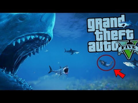 The ULTIMATE MEGALODON SHARK ATTACK MOD (GTA 5 PC Mods Gameplay)