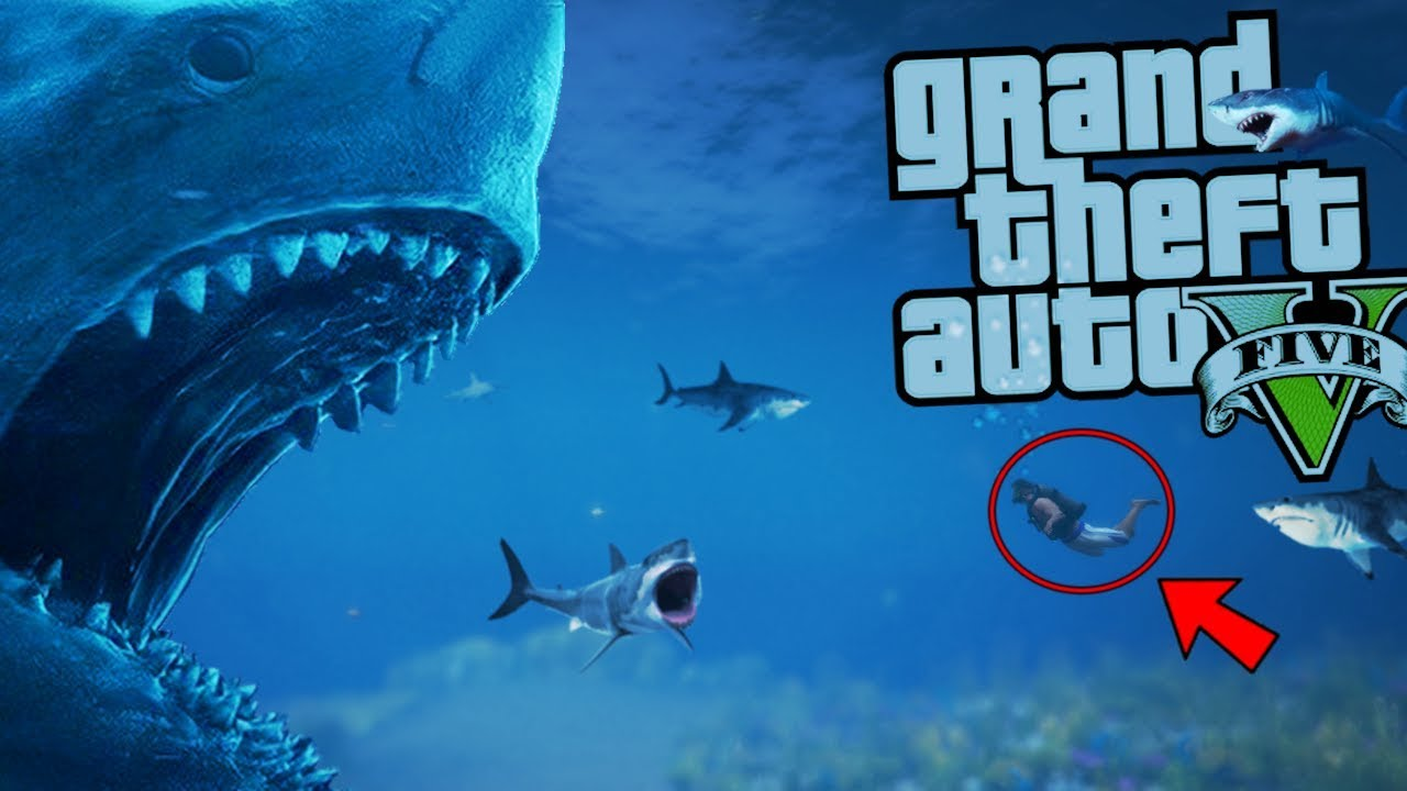 The Ultimate Megalodon Shark Attack Mod Gta 5 Pc Mods Gameplay Youtube