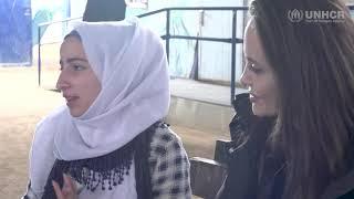 Angelina Jolie visits Jordan's Zaatari refugees camp 28/01/2018