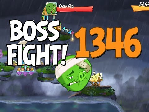 Angry Birds 2 Boss Fight 193! Chef Pig Level 1346 Walkthrough - iOS, Android