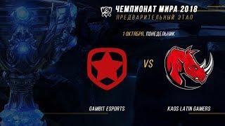 GMB vs KLG — ЧМ-2018, Плей-ин, День 1, Игра 6