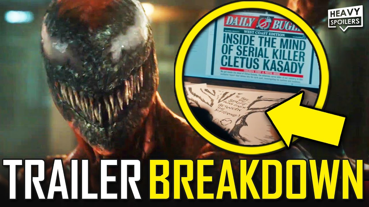 VENOM 2 Let There Be Carnage Trailer Breakdown | Easter Eggs Explained, Things You Missed & Reaction