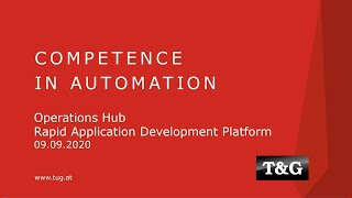 Webinar: Operations Hub - Rapid Application Development Platform