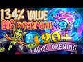 120+ Packs Opening: Hearthstone Packs Value - 134%. The Big Boomsday Community Experiment!