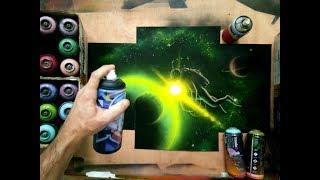 Spray Paint Art - Scubadiver-by Antonipaints- creative art