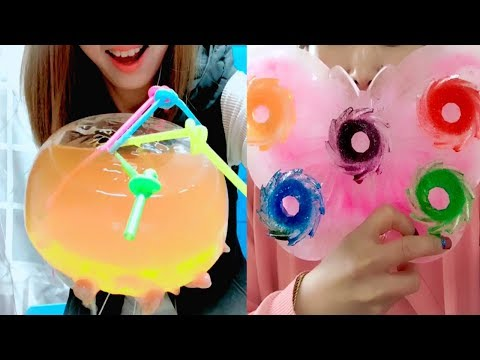 TRULY BEST Ice Eating Ice Juice Drinking Compilation #5| Ice Filled With Juice| ASMR Crunch Sounds