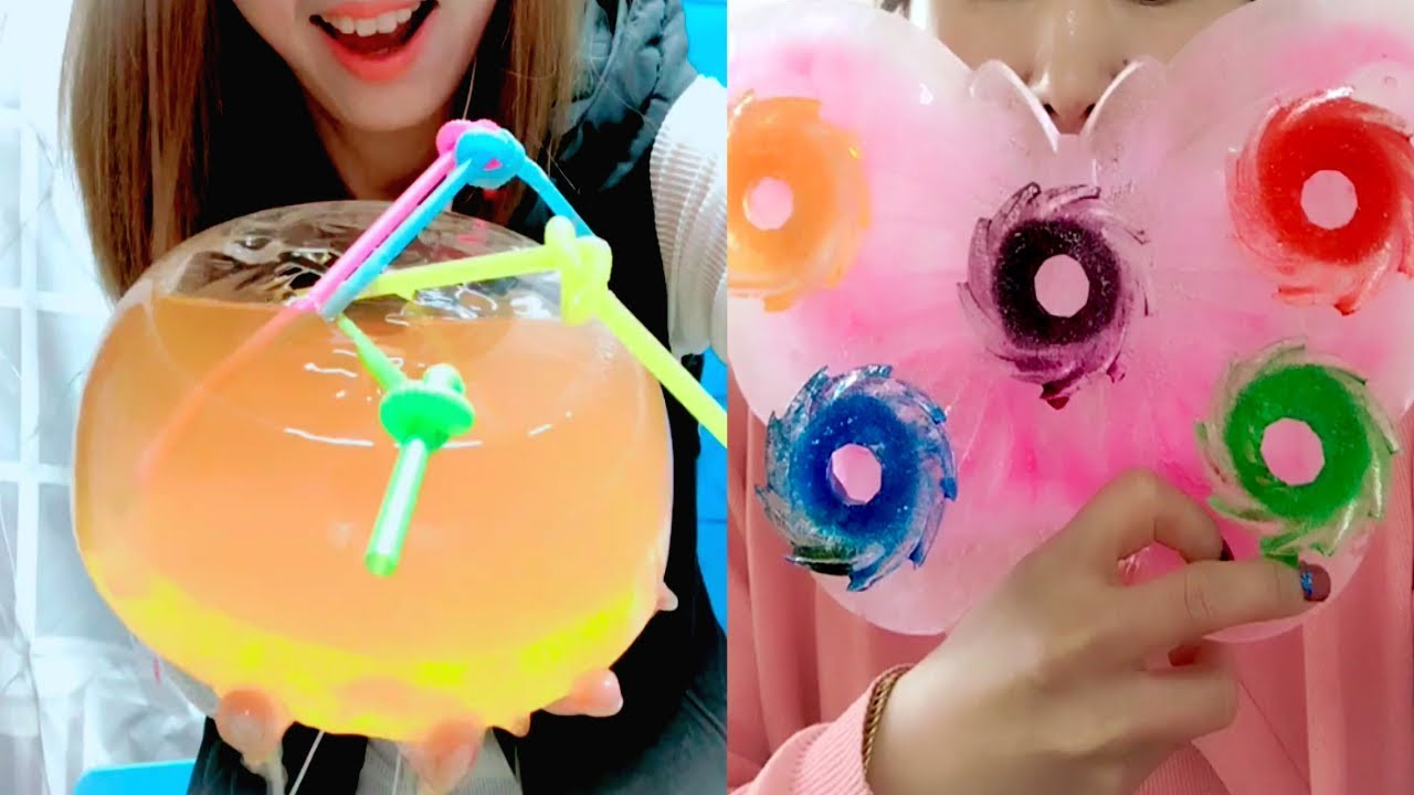 TRULY BEST Ice Eating Ice Juice Drinking Compilation #5  Ice Filled with Juice  ASMR Crunch Sounds