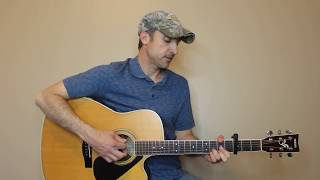 kiss goodbye - cody johnson - guitar lesson | tutorial