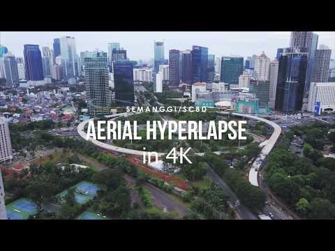 Semanggi SCBD Jakarta Indonesia Aerial Hyperlapse (4K)