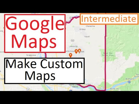 Google My Maps Tutorial - Make Custom Maps -  Import Excel and Shapefile -  Tips and Tricks thumbnail