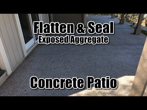 Flatten And Seal Exposed Aggregate Concrete Patio