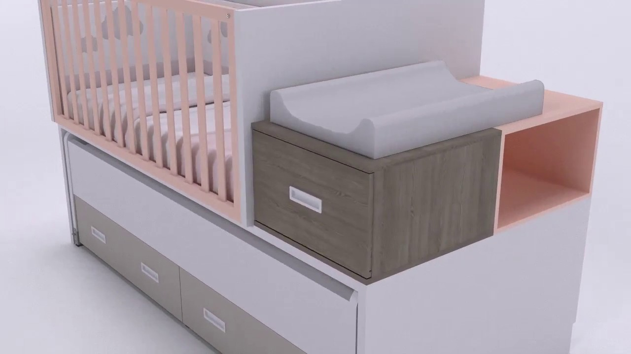 IDEHABITA - Cuna convertible a cama compacta - YouTube