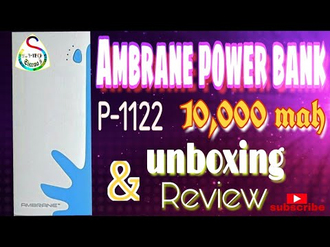 Ambrane P-1122,10,000 mah power bank/unboxing and review./Sub-tech sharmaji
