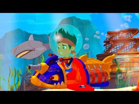 Джейк и Пираты Нетландии -Нападение акулы!/Колоссальное столкновение капитана Крюка-серия 5, сезон 4