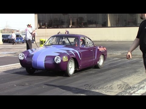 Built Volkswagen Karmann Ghia │ Drag Racing at Import Face off