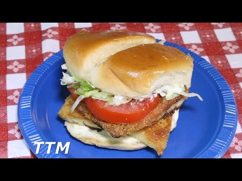 How To Make Easy Fried Fish~Tilapia~Fish Fillet Sandwich With Tarter Sauce Recipe