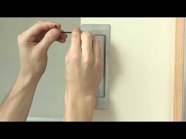 CL400 Magnetic Privacy Pocket Door Hardware Installation