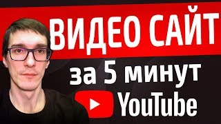 Создание видео сайта для YouTube. Создавайте сайты сами. Бесплатно. С нуля.