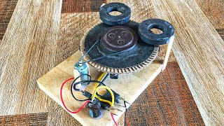 Electric Science Project Free Energy Generator 100% Self Running By DC motor With Magnets At Home