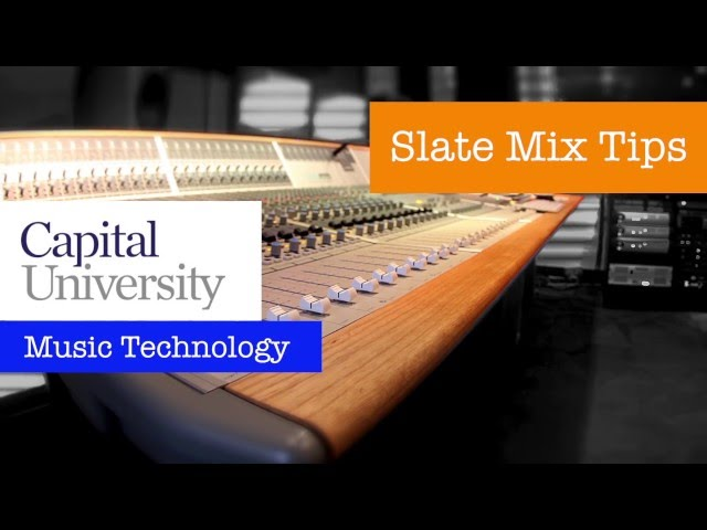 Slate Mix Tips - Drum and Bass Balancing