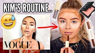 I FOLLOWED KIM KARDASHIANS MAKEUP ROUTINE