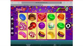 Huge online slots win on Sweet16 Bonus round over 666X !