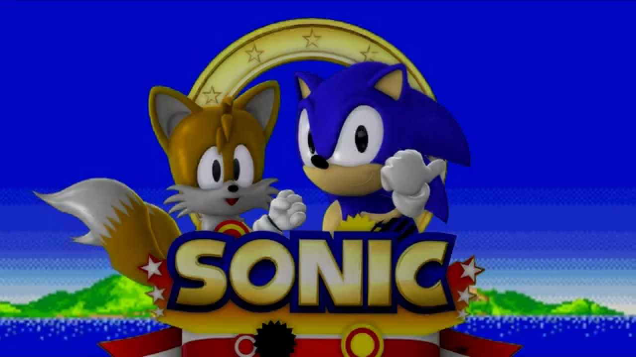 Sonic The Hedgehog 2 Title Screen Remake Youtube
