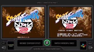 Street Fighter Alpha 2 (Arcade vs Snes) Side by Side Comparison