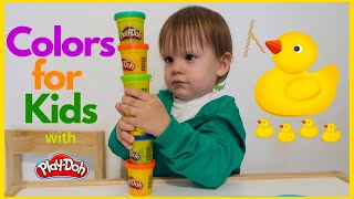 7 Color Play Doh and Wild Animals Molds | Learn Colors Surprise Toys Yowie Kinder Surprise Eggs