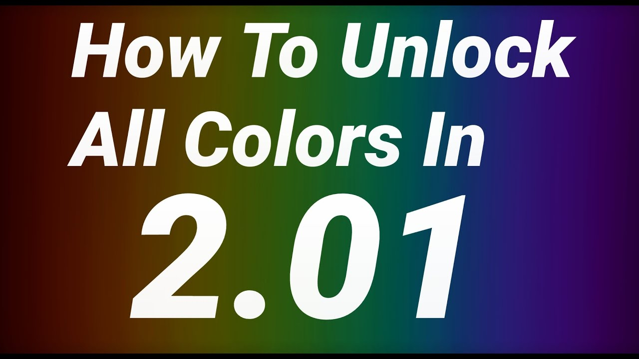 Geometry Dash [2.0] - How To Unlock All Colors - YouTube