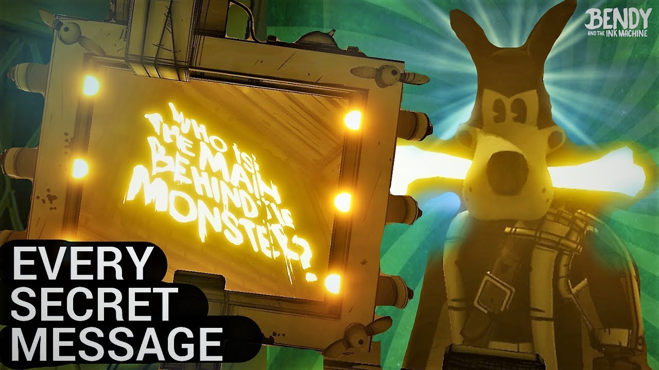 EVERY Secret Henry Message Analyzed! (Bendy & the Ink Machine Chapter 1-5 Secrets)