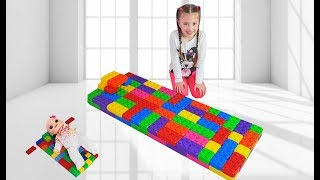 Dominika and Baby play with Giant LEGO Blocks