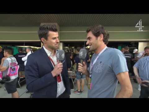 """2016 Abu Dhabi - Pre-Race:  """"It's my first time at an F1 race"""" - Federer"""