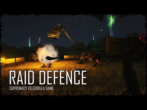 MASSIVE RAID DEFENCE - PVP OFFICIAL - Ark Survival Evolved