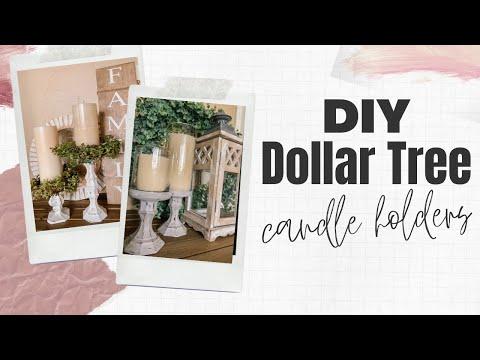 DIY Dollar Tree Candle Holders