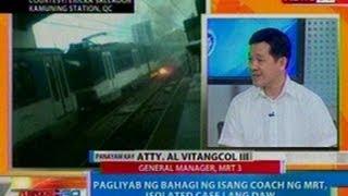 NTG: Pagliyab ng bahagi ng isang coach ng MRT, isolated case lang daw