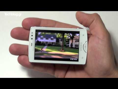 Sony Ericsson Xperia mini hands-on (Greek)