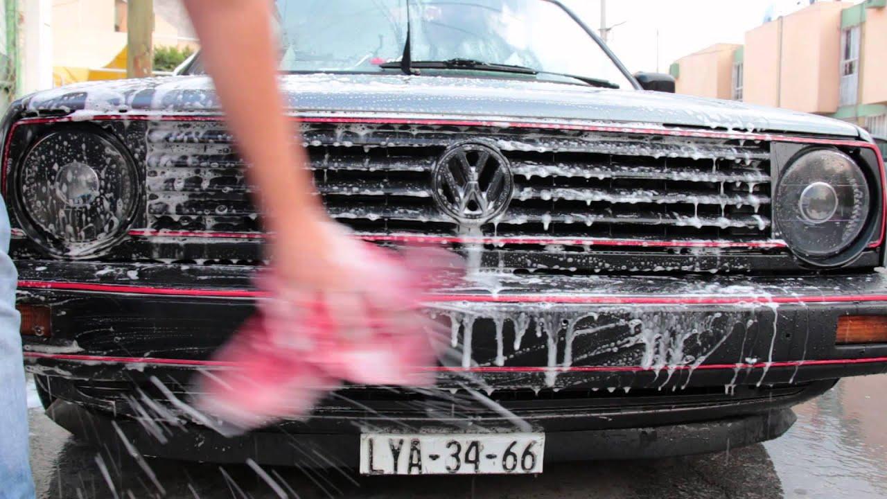 Golf Mk2 Car Wash Euro Style Youtube