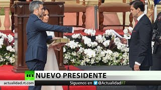 Mario Abdo Benítez toma juramento como nuevo presidente de Paraguay