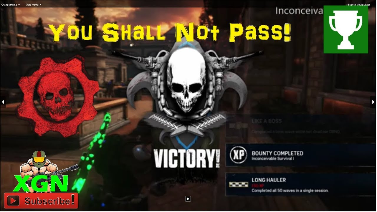 Gears of war 4 how to unlock you shall not pass achievement horde gears of war 4 how to unlock you shall not pass achievement horde inconceivable speed run montage ccuart Images