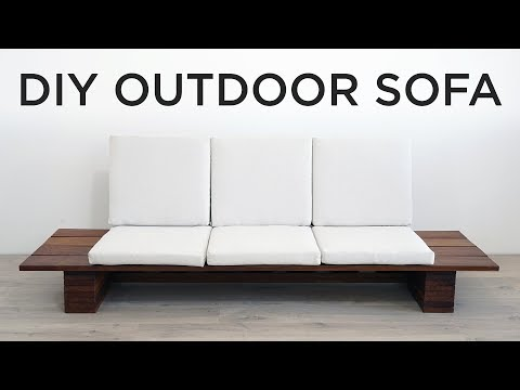 DIY Outdoor Sofa   YouTube