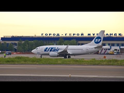 Взлёты в аэропорту Мурманска/Takeoff At The Airport Of Murmansk