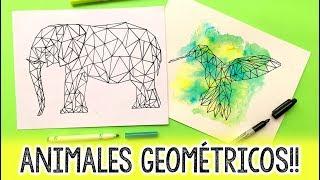 ¿Cómo hacer ANIMALES GEOMÉTRICOS? ✄ Barbs Arenas Art!
