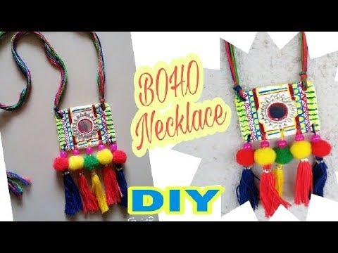 DIY Beautiful Boho Necklace/Navratri dandiya Necklace/Tassel Necklace