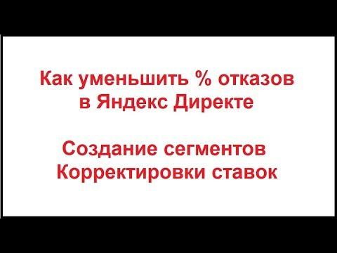 Отказы в Яндекс Директ. Как бороться в большим % отказов в Яндекс Директ. Практика