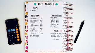 July Budget | Zero Based Budgeting | Dave Ramsey Inspired
