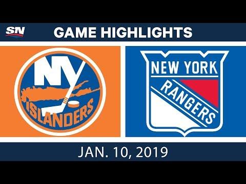 NHL Highlights | Islanders vs. Rangers - Jan. 10, 2019