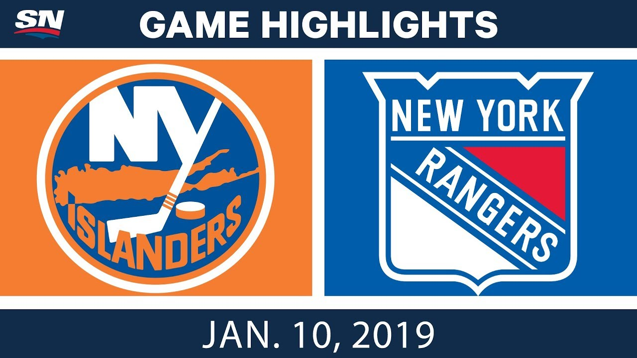 NHL Highlights | Islanders vs. Rangers - Jan. 10, 2019