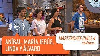 El grupo de Aníbal, María Jesús, Linda y Álvaro   MasterChef Chile 4   Capítulo 1